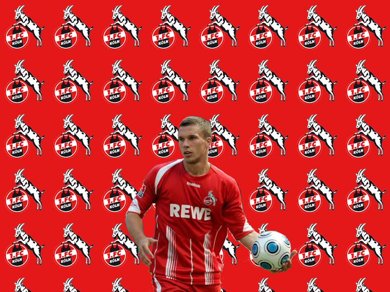 Lukas Podolski FC Köln player wallpaper | Free soccer ...